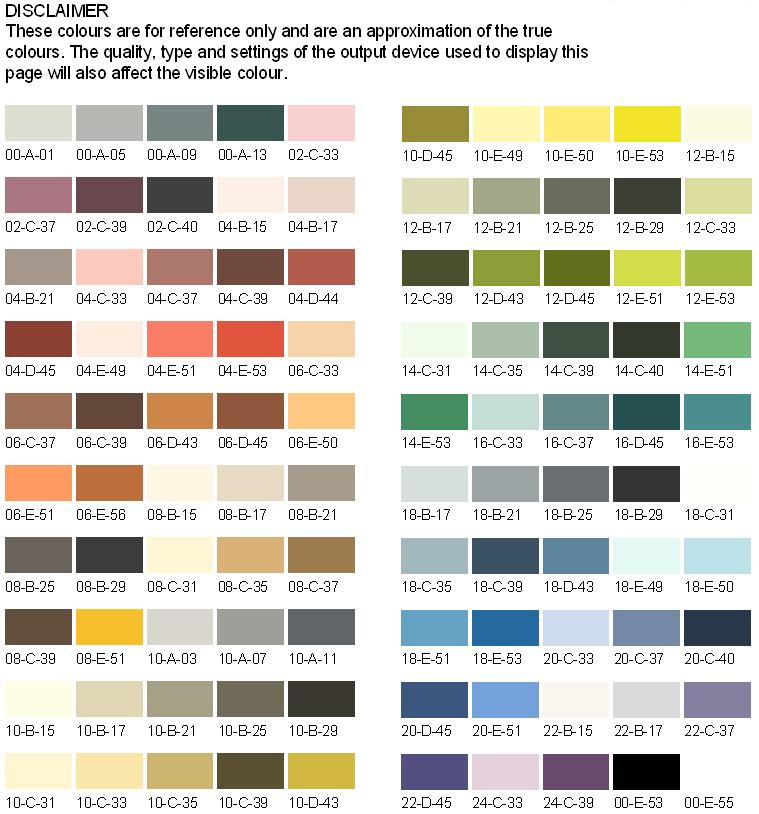 Nwe Paints Choice Of Colour Charts Bs4800 Ral Amp Bs381c