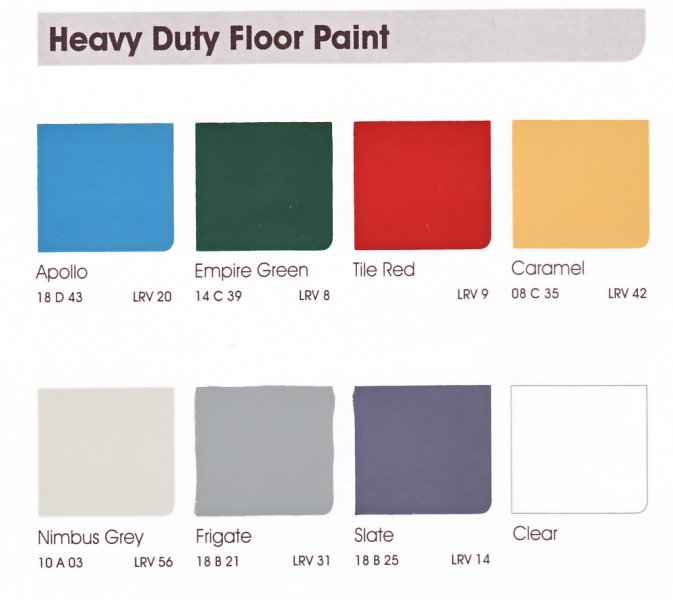 Smooth Heavy Duty Floor Paint Nwe Paints Ltd Rhyl