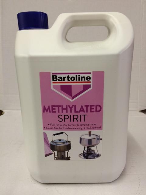 Bartoline Methylated Spirit or Meths general cleaner